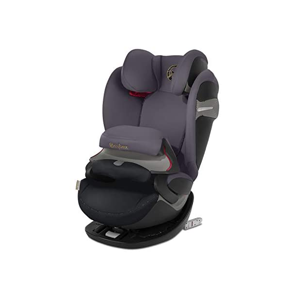 CYBEX Gold Pallas S-Fix 2-in-1 Child's Car Seat, For Cars with and without ISOFIX, Group 1/2/3 (9-36 kg), From approx. 9 Months to approx. 12 Years, Premium Black Cybex Sturdy and high-quality child car seat for long-term use - For children aged approx. 9 months to approx. 12 years (9-36 kg), Suitable for cars with and without ISOFIX Maximum safety - Depth-adjustable impact shield, 3-way adjustable reclining headrest, Built-in side impact protection (L.S.P. System), Energy-absorbing shell 12-way height-adjustable comfort headrest, One-hand adjustable reclining position, Easy conversion to Solution S-Fix car seat for children 3 years and older (group 2/3) by removing impact shield and base 1