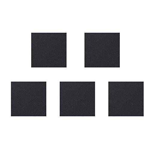UEETEK 5 Stück Schwamm Neopren Rubber Foam Anti-Vibration Pads Vibration Isolation Mats 150x150x5mm (Schwarz) -