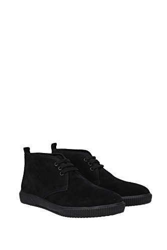 4T2819NERO Prada Chaussure montante Homme Chamois Noir Noir