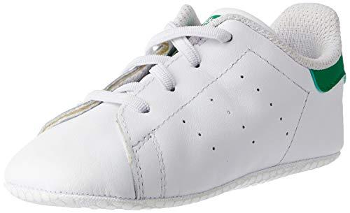 adidas Originals Stan Smith Crib B24101, Unisex Baby Lauflernschuhe Sneaker, Weiß (Ftwr White/Ftwr White/Green), EU 18