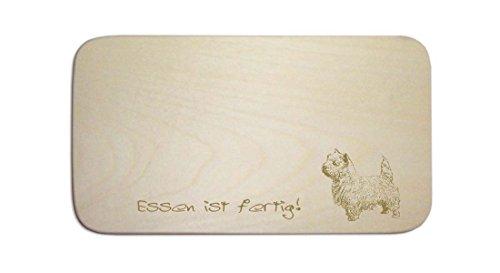 West Highland White Terrier, personalizzabile secondo la colazione «. Incisione-cartello-Tagliere da colazione regalo cane
