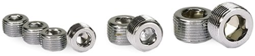 3/4in. NPT Chrome Pipe Plug 2 Per Package -