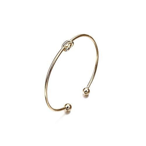 WODESHENGRI Armbänder,Armband Für Frauen Farbe Gold Öffnen Pfeil Verknotet Charms Armband Schmuck Valentines Geschenk