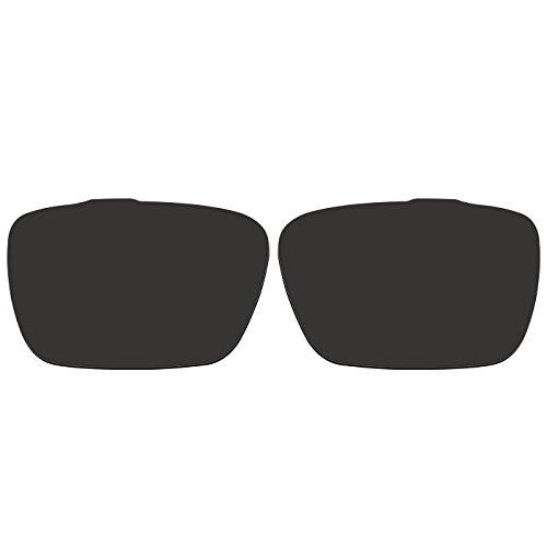 ACOMPATIBLE Ersatz Linsen für Oakley Jury oo4045Sonnenbrille, Black - Polarized, S