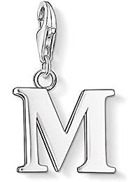 Thomas Sabo Damen-Charm Club-Anhänger Buchstabe M 925er Sterlingsilber 0187-001-12