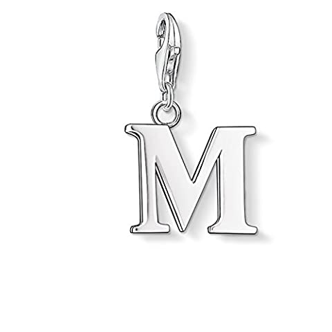 Thomas Sabo Femmes-Pendentif Charm Lettre M Charm Club Argent Sterling 925 0187-001-12