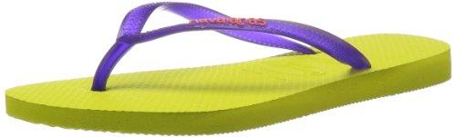 Havaianas Slim logo ice violet H4119787-3445 Damen Zehentrenner Gelb 5209