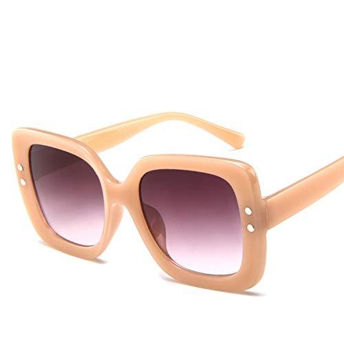 GBST Übergroße Sonnenbrille Frauen Luxus transparent gradienten Sonnenbrille großen Rahmen Vintage Brillen Brillen für Dame,Champagne