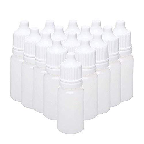 LAAT 50 Stück Trpfflaschen Kunststoff Fluessigkeit Flasche Leere Plastik Squeezable Tropfflaschen Sichere Lagerung von Flüssigkeitsflaschen 10ml