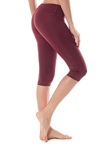 CRZ YOGA Damen Sport Yoga Leggings - Capri Tights