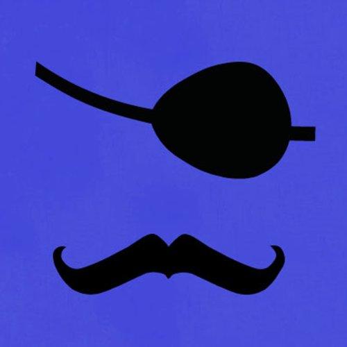 TEXLAB - Pirat Moustache - Damen T-Shirt Weiß
