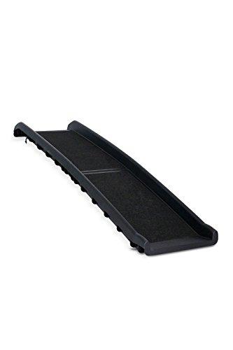 Dibea DR00890 Hunderampe klappbare Kunststoff Hundetreppe mit Anti-Rutsch-Belag, leichte Auto Kofferraum Rampe, schwarz