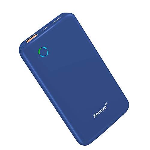 Xnuoyo USB-C PD 18W Powerbank 10000mAh, QC 3.0 Tragbares Ladegerät Typ-C Input/Output Externer Akku Hohe Kapazität Powerbank Kompatibel mit den Meisten Smartphones (Blue)