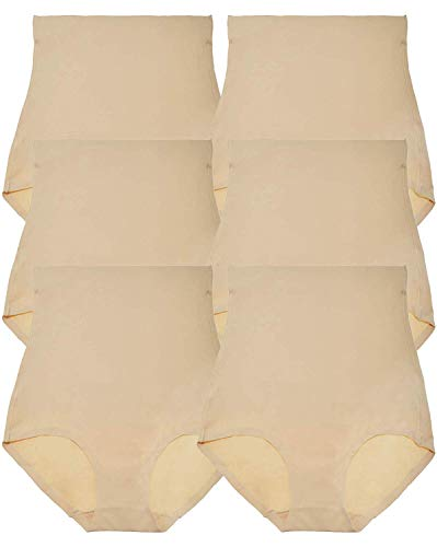 ToBeInStyle Women's 6 Pack Microfiber High Waisted Tummy Control Laser Cut Brief -