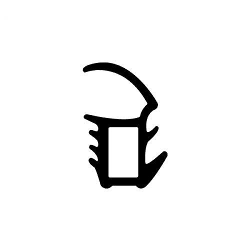 DIWARO® Stahlzargen-Dichtung SZ030 | grau | 5 lfm für Haus- und Innentüren. Zum Schallschutz und abdichten der Tür. Bestehend aus TPE (Thermoplastischen Elastomer)