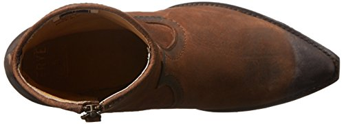 Frye Sacha Short Boot Rund Leder Mode-Stiefeletten Dark Brown