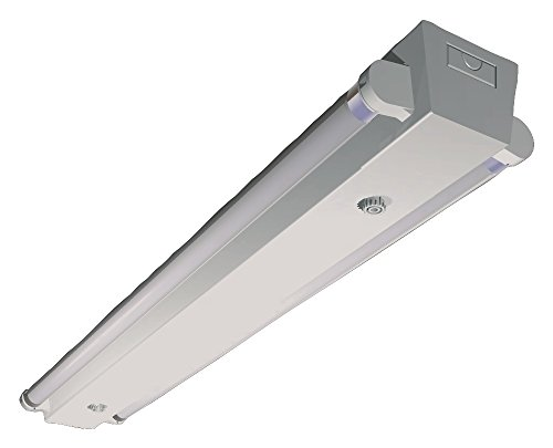 Airfal D0053L - Luminaria LED para dos tubos, 120 cm, color blanco