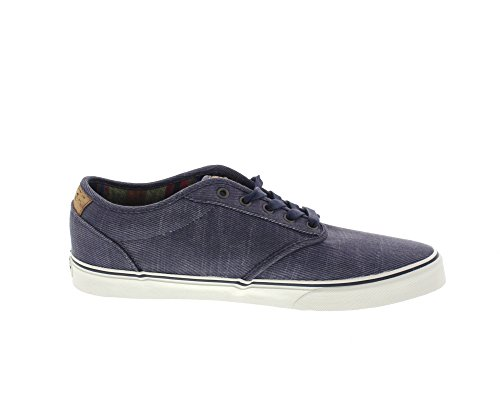 Vans Atwood Deluxe, Baskets Basses Homme Blau (Washed Twill navy/marshmallow)