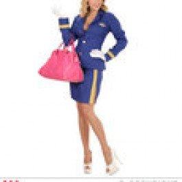 (Widmann wdm06771–Kostüm Stewardess, türkis, small)