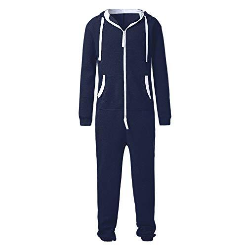 iHAZA Nicht füßiger Pyjama Spielanzug Blusen Overall Einteiliges Kleidungsstück Unisex