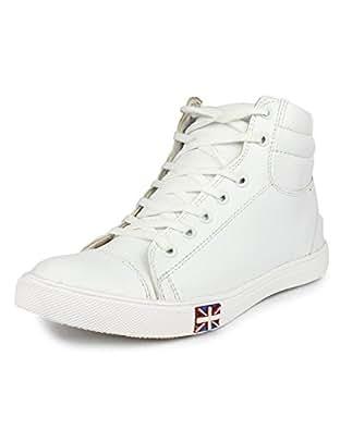 13990f91f6203 T-Rock Men s White Sneakers-9 UK India (43 EU) (Whit bot 9)  Buy ...