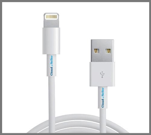Cloudseller NEW iPhone 5 / 5S / 5C CHARGER COPPER LEAD HIGH QUALITY USB DATA CABLE- 8 Pin – Compatible With ios7, IPHONE 5s, 5c IPOD TOUCH 5 NANO 7 IPAD MINI ® image