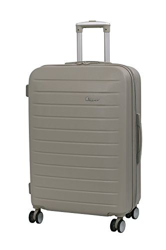 it luggage Legion 8 Wheel Medium Spinner Expandable Hard Case Koffer, 71 cm, 110 liters, Beige (Cobblestone)