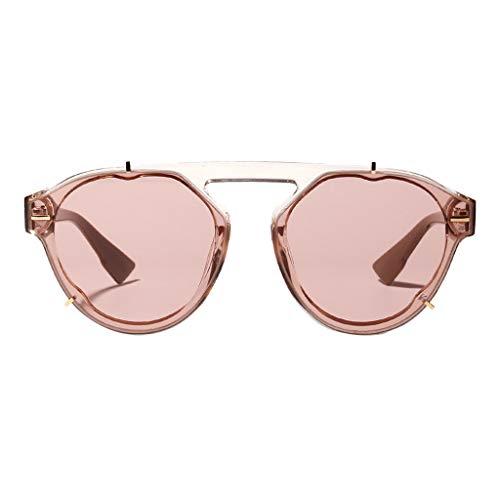 REALIKE Damen Sonnenbrillen Klassische Gold Rund Farben Verspiegelt Vintage Brille Glänzend Verbundrahmen Frauen Verspiegelt Sunglasses Travel - Chopper Star Wars Kostüm