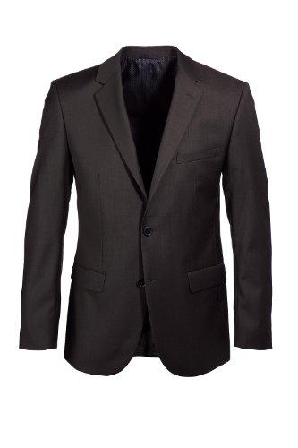 ESPRIT Collection Herren Anzugsjacke Regular Fit 993EO2G902 Braun (dark brown 202)