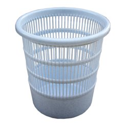 TEKO Kunststoff Rund Gelocht Papier Korb, Granit, 30x 24,5x 24cm (Kunststoff-trinkbecher Bulk)