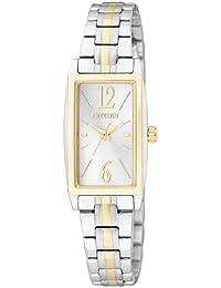 Citizen Damen-Armbanduhr Analog Quarz Edelstahl beschichtet EX0304-56A