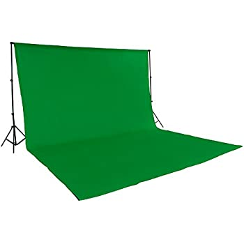 kit complet studio fond support fond vert coton 6 3m pour chromakey et support hauteur max. Black Bedroom Furniture Sets. Home Design Ideas