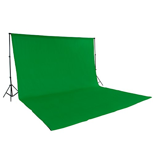 TecTake® Greenscreen Teleskop Fotostudio Komplettset