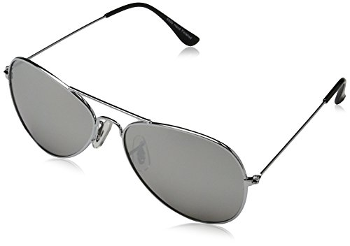 Sunglasses 6950 Washington Aviator Sonnenbrille, Glasbreite: 47, Silber (Silver 002)