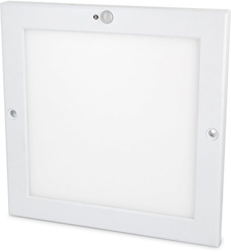 Panel sensor LED UltraSlim de 18 W, lámpara de techo con detector de movimiento...
