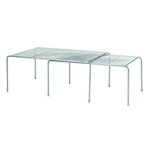 Interdesign classico mensole espandibili e impilabili, ripiano, dispense, metallo, argento, 35.6x22.9x16.399 cm