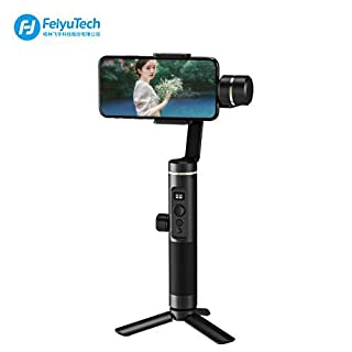 Feiyu SPG2 Axis Handheld Gimbal Stabilizer w/Focus Pull & Zoom for iPhone XS Max Xr X 8 Plus 7 6 SE Android Smartphone Samsung Huawei Xiaomi,Including Triopd and Extension Rod
