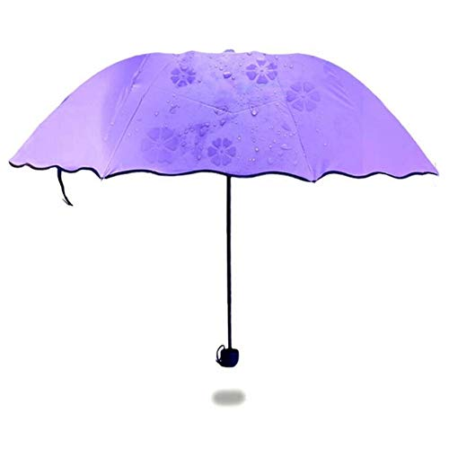 SHILILI Neue Damen Prinzessin Magic Flower Dome Sonnenschirm Sonne/Regen Regenschirm Frauen Transparent Regenschirm