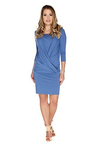 c3e8699a8053 My Tummy Vestito premaman   allattamento Linda blu jeans S (small)  Abbigliamento Premaman Abiti eleganti di maternità