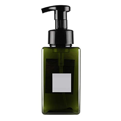 SEGRJ 450 ml Kunststoff Schaum Flasche Container Shampoo Lotion Flüssigseife Pumpspender Leere Shampoo Presse Pumpflasche für Conditioner, Body Wash, Haargel Grün 450ml -