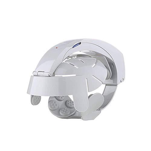 Yhongyang Massager Testa Massaggiatore Cervello Elettrico Insonnia Multifunzione Facile Massaggio Del Cuoio Capelluto Casco (Bianco)