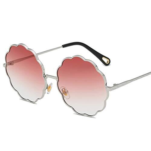 Shiduoli Sonnenbrillen für Männer Damenmode Blume geformt klare Linse Sonnenbrille (Color : D)