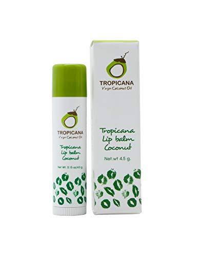 Tropicana Oil Naturkosmetik Beauty 2 x Coconut Lippenstift 4,5g | Kaltgepresstes Natives Bio-Kokos Öl, Kakaobutter und Shea Butter Lippenpflege Bio für trockene Lippen | Lip Balsam Lippen Balm
