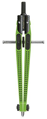 Faber-Castell 8697371 Verde 2 pieza(s) – Compás (Verde, Metal, 39 cm, Alemania, 2 pieza(s), Funda de plástico)