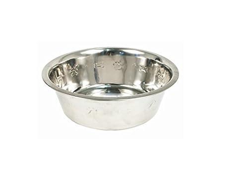 En Métal/gamelle pour chien en acier inoxydable/Pet bol en relief–2850ml (3Qt)