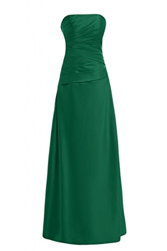Toscane mariée satin simple traegerlos abendkleider ballkleider longueur ferme party Vert - Vert