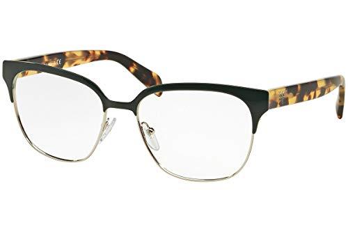 Prada Brillen Für Frau 54S UEZ-1O1, Green / Silver Metallgestell, 52mm