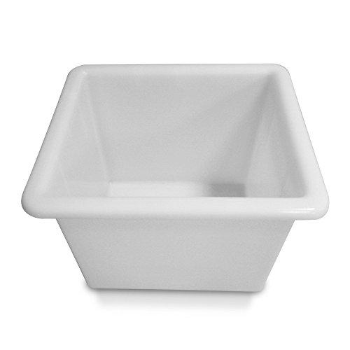 Stapelbehälter / Kunststoffwanne, 55 Liter, L535 x B475 x H380 mm, lebensmittelecht, naturweiß