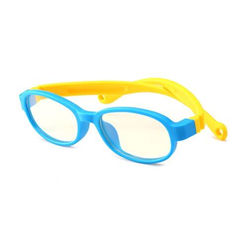 (Hibote Mädchen Jungen Anti Blaulicht Brillen - Silikon - Klare Linse Gläser Rahmen Geek/Nerd Brillen mit Auto Form Brillenetui - 18083003)