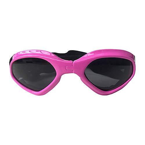 FZQ Haustier Brillen Foldable AC Plastic Nylon Ribbon Creative Dog Cat Brillen Ski Sonnenbrillen Creative Accessoires Multi-Color Optional,Pink (Ribbon Sonnenbrille Pink)